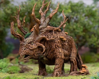 Hagglethorn Hollow Treeceratops DnD Miniature Terrain for Dungeons and Dragons, D&D, D and D, Wargaming, Tabletop, Wargaming, Gifts