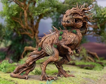 Hagglethorn Hollow Tree Rex DnD Miniature Terrain for Dungeons and Dragons, D&D, D and D, Wargaming, Tabletop, Wargaming, Gifts