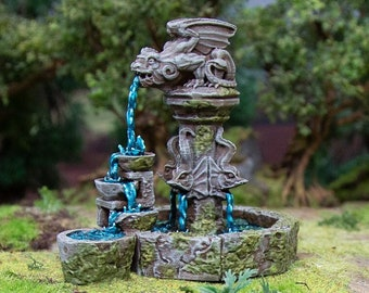 Hagglethorn Hollow The Fountain DnD Miniature Terrain for Dungeons and Dragons, D&D, D and D, Wargaming, Tabletop, Wargaming