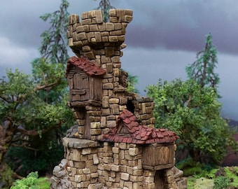 Hagglethorn Hollow Rickety Platforms DnD Miniature Terrain for Dungeons and Dragons, D&D, D and D, Wargaming, Tabletop
