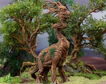 Hagglethorn Hollow Brackenosaurus DnD Miniature Terrain for Dungeons and Dragons, D&D, D and D, Wargaming, Tabletop, Wargaming, Gifts