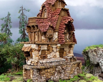 Hagglethorn Hollow Hunters Lodge DnD Miniature Terrain for Dungeons and Dragons, D&D, D and D, Wargaming, Tabletop, Wargaming, Gifts