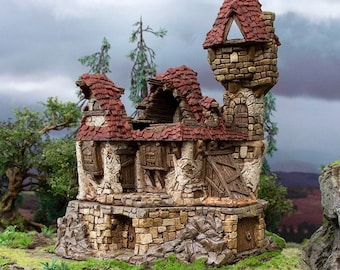 Hagglethorn Hollow Ruined Guildhall DnD Miniature Terrain for Dungeons and Dragons, D&D, D and D, Wargaming, Tabletop, Wargaming, Gifts