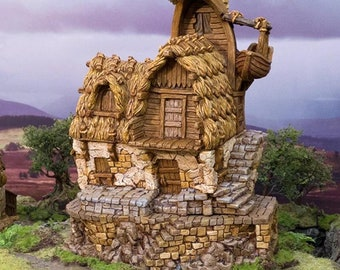 Hagglethorn Hollow Fisherman's Hut DnD Miniature Terrain for Dungeons and Dragons, D&D, D and D, Wargaming, Tabletop, Wargaming, Gifts