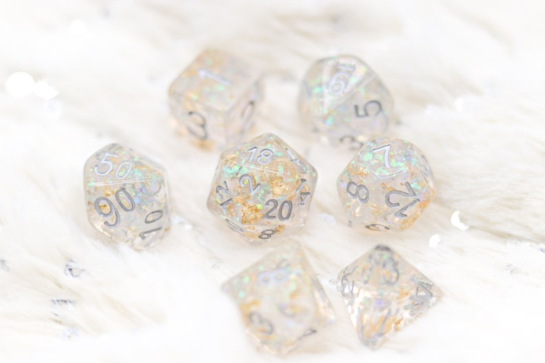Dragon Scale Gold Breath DnD Dice Set For Dungeons and image 0