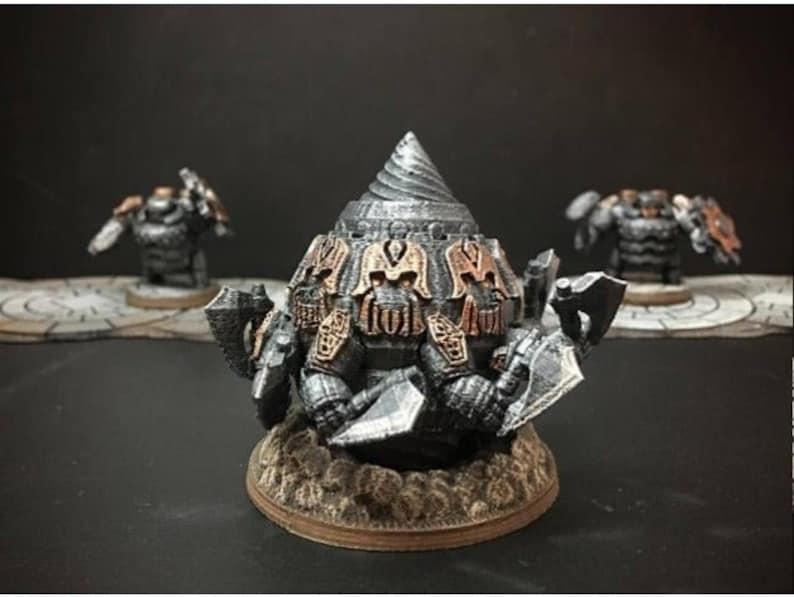 28mm | 32mm Dwarf Miner King DnD Miniature | Warhammer 40k Miniature |  Pathfinder Miniature | DnD | DnD 5e | Pathfinder | Pathfinder RPG |