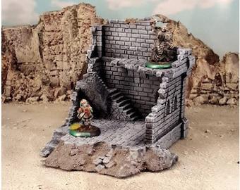 Modular RPG Fantasy Ruins-4 Terrain DnD | Pathfinder | Forestgrave | 40k | FFG | Wargaming | Terrain Scenery | Dungeon Terrain