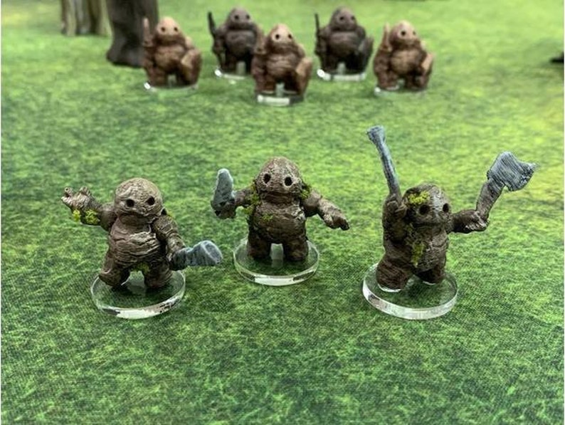 28mm | 32mm Earthenkind Soldier Monster DnD Miniature | Pathfinder  Miniature | Wargaming Miniature | Pathfinder RPG | Fantasy Miniature |