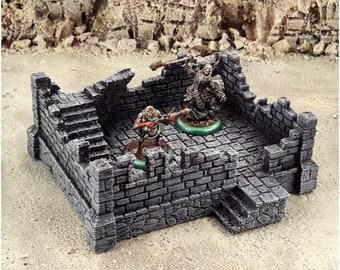 Modular RPG Fantasy Ruins-2 Terrain DnD | Pathfinder | Forestgrave | 40k | FFG | Wargaming | Terrain Scenery | Dungeon Terrain