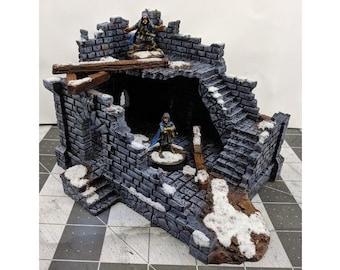 Modular RPG Fantasy Ruins-3 Terrain DnD | Pathfinder | Forestgrave | 40k | FFG | Wargaming | Terrain Scenery | Dungeon Terrain