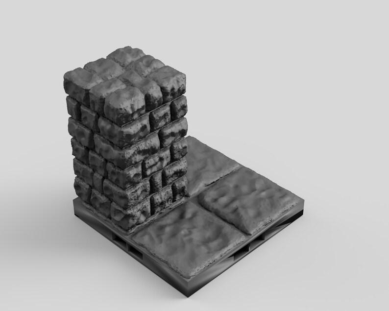 Warhammer 40k Pathfinder Gifts Dungeon Large Corner Colum Floor DnD DragonLock Tiles Terrain for Dungeons and Dragons D/&D Miniature