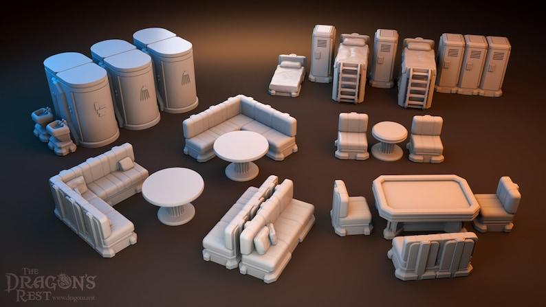 28mm Wargaming Sci-Fi Scatter - Barracks Terrain Warhammer 40k|Star Wars  Legion Imperial Assault Miniature Terrain|The Dragon's Rest Terrain