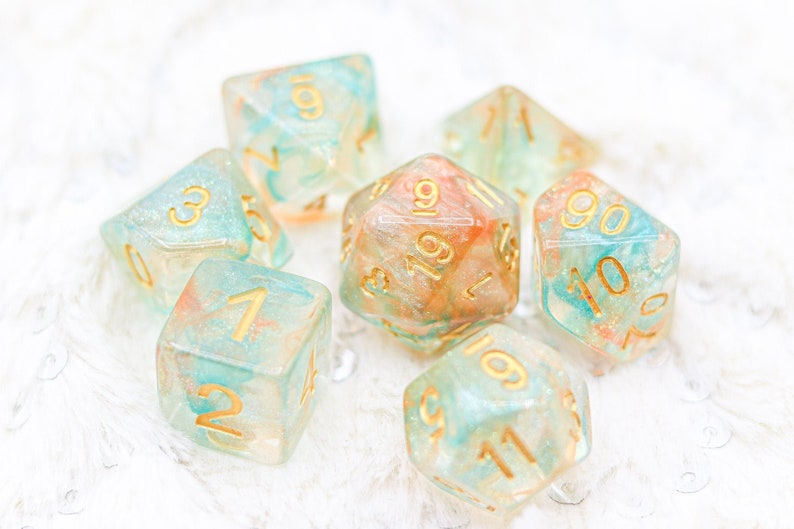 Spirit of Merlin Wizard DnD Dice Set For Dungeons and Dragons image 0