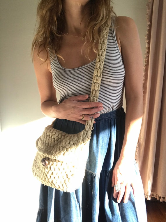 Crochet/macramé/woven bag