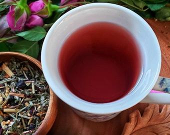 SECOND SIGHT~Organic herbal tea mix~Psychic Ability Tea~Clarity~Eye sight~Bilberry~Lemongrass~Raspberry Leaf~Ritual Tea~Beltane~Samhain