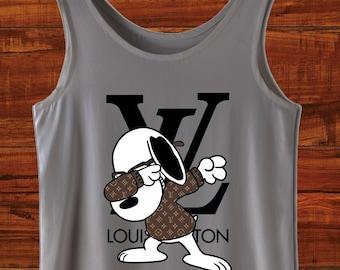 c772c098ea65a Snoopy Tank Top Louis Vuitton Shirt Marke Top Snoopy Hundeshirt Lv Marke  Top Disney Louis Vuitton Tank Snoopy Top Disney Tank Top