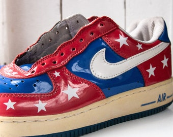 huge discount 59a50 8e4f0 Vintage Nike Air Force   06 all star flag USA-blue red and white  10.5
