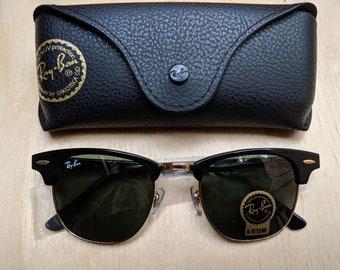 Vintage Ray-Ban Clubmaster Sunglasses Rb3016 G-15 lens - Black Frame 06ec7bb4c81a