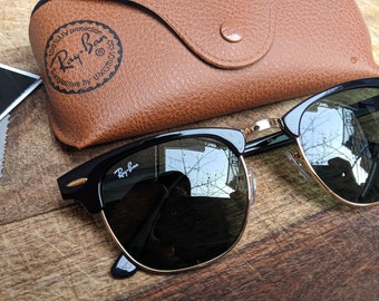 d4a484a6f2 Vintage Ray Ban Clubmaster Sunglasses