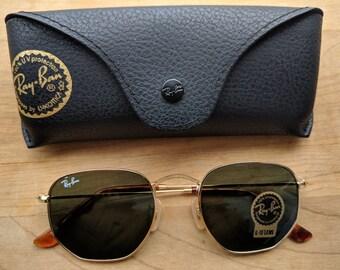 36d7de27e4 Vintage Hexagonal Sunglasses Rb 3548 G-15 lens - Gold frame
