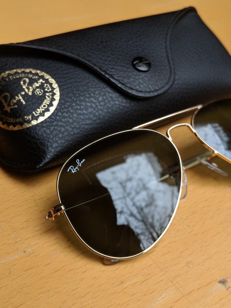 803f23d5b6 Classic Ray-Ban Aviator Sunglasses Gold Frame G-15 Lens