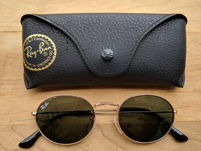 9e4b534782 Vintage Oval Ray-Ban Sunglasses Rb3547 G-15 lens Gold Frame | Etsy