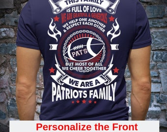 8a83ed6c New England Patriots Personalized T-Shirt - Unisex