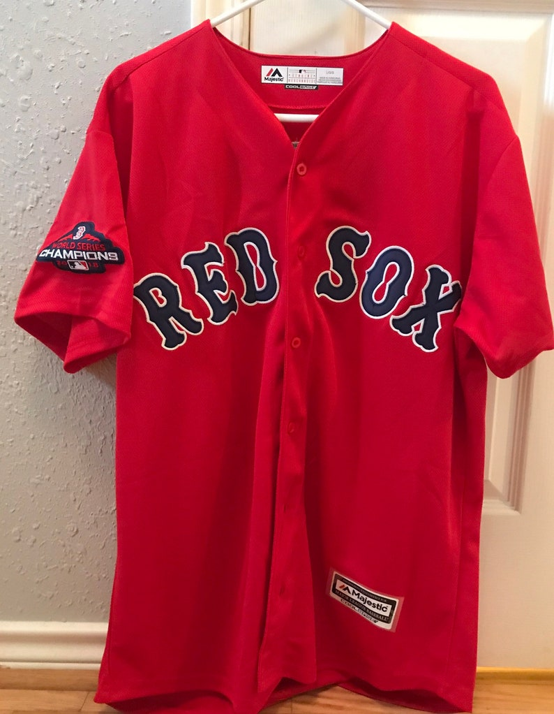 sale retailer fcae1 9da9a Boston Red Sox Mookie Betts Jersey with World Series Patch