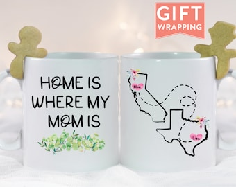 Home is Where my Mom is Personalized Mug For Mom Birthday Gift Gifts For Mom From Daughter Mothers Day Gift Long Distance Gift For Mom & Mom birthday gift | Etsy