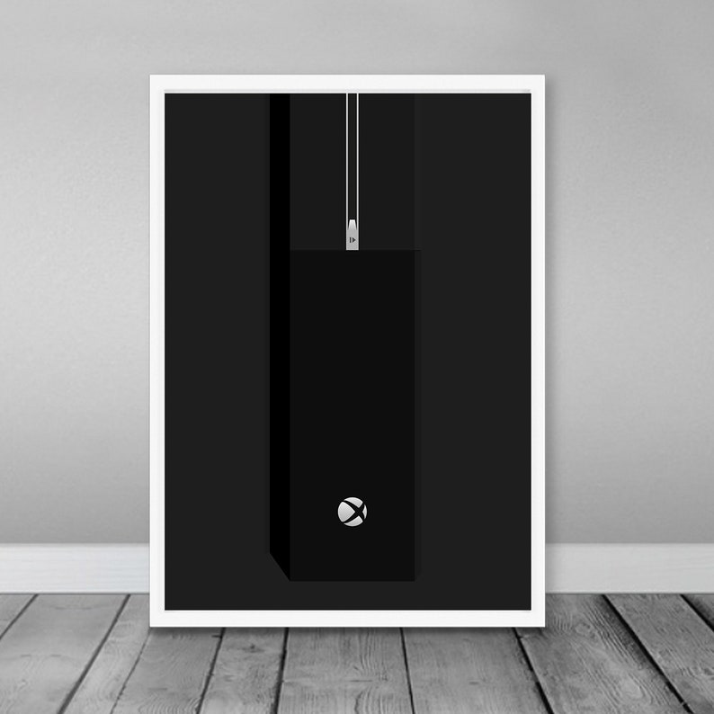 XBOX ONE Poster - Minimalist Wall Art, Video Game Poster, Retro Gaming  Decor, Decal, Xbox One Console, Retro Poster, Digital Download