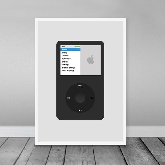 Apple Ipod Classic Poster Apple Digital Download Print Etsy