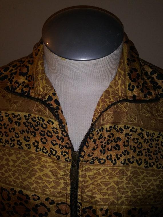 Leopard Print Silk Jacket 80's FUDA INTERNATIONAL - image 2