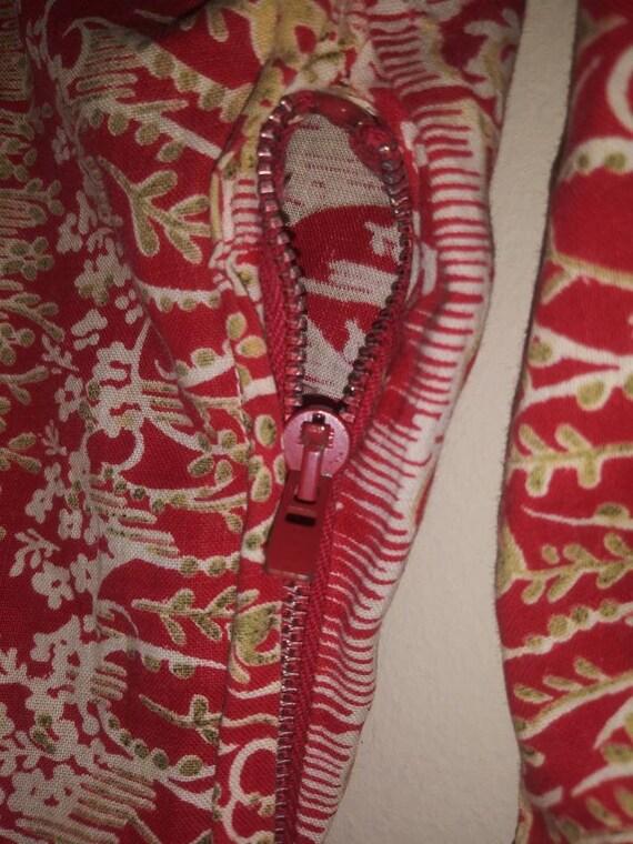 Vintage 70s Asian-Chinoiserie-Mandarin-Collar-Pai… - image 3
