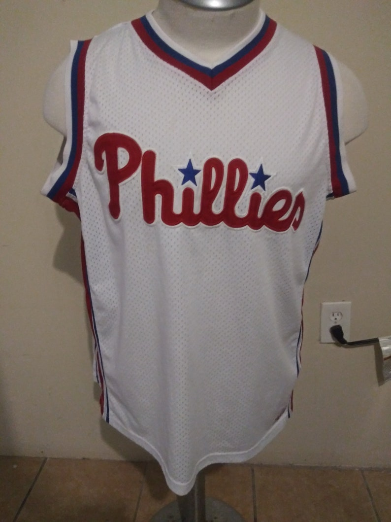 Phillies Jersey By Stitches Athletic Gear Size Xlarge Etsy
