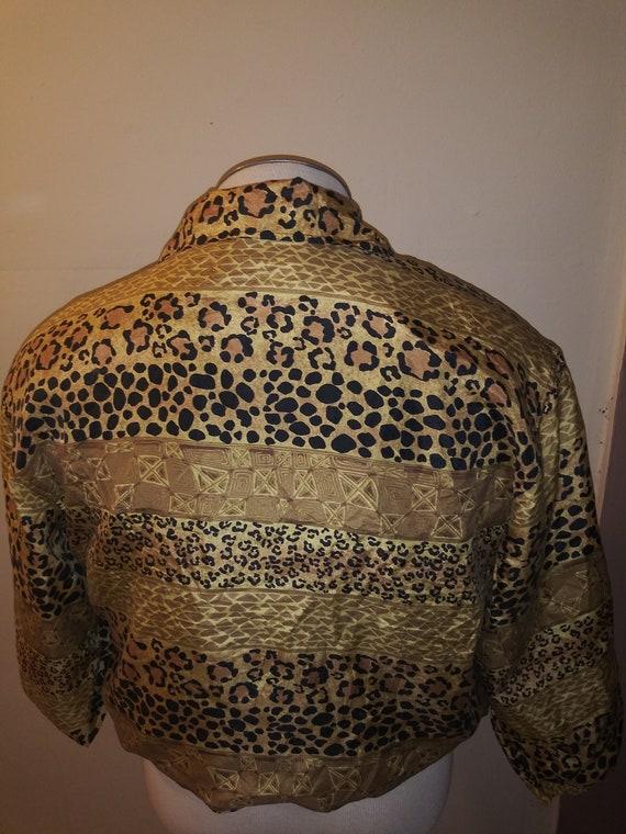 Leopard Print Silk Jacket 80's FUDA INTERNATIONAL - image 5