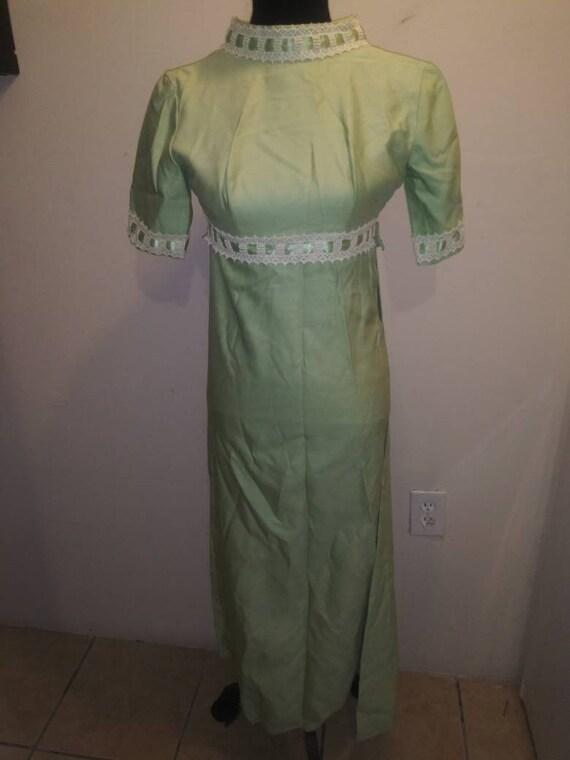 Darling 60s Era Satin Green Pistachio Dress* Weddi