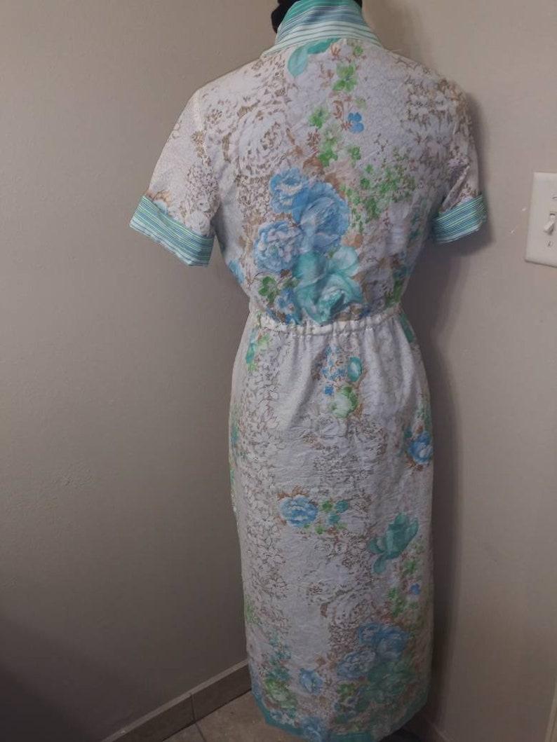 Ms.Linda* Blueberry Rose*Vintage dress* Sunday Dress* summer Dress* Mod dress*Maxi Dress*