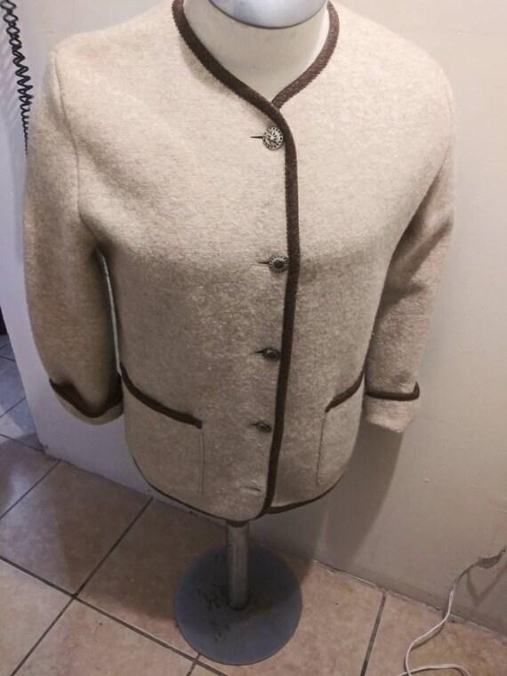 80s Vintage LL Bean Wool Large Womens Coat-Blazer-