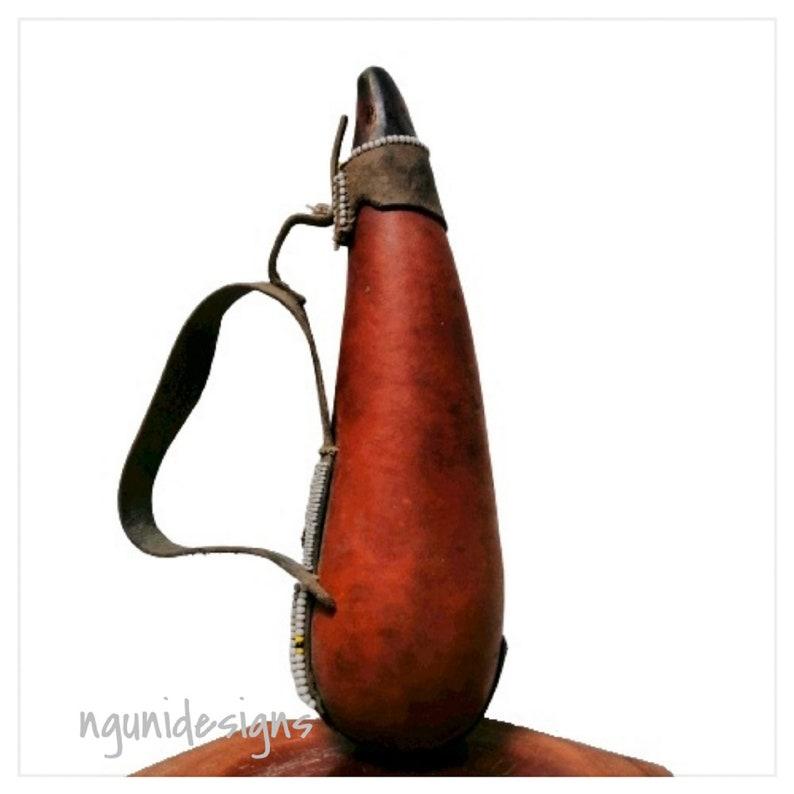 Baby Maasai Milk Gourd African Carving