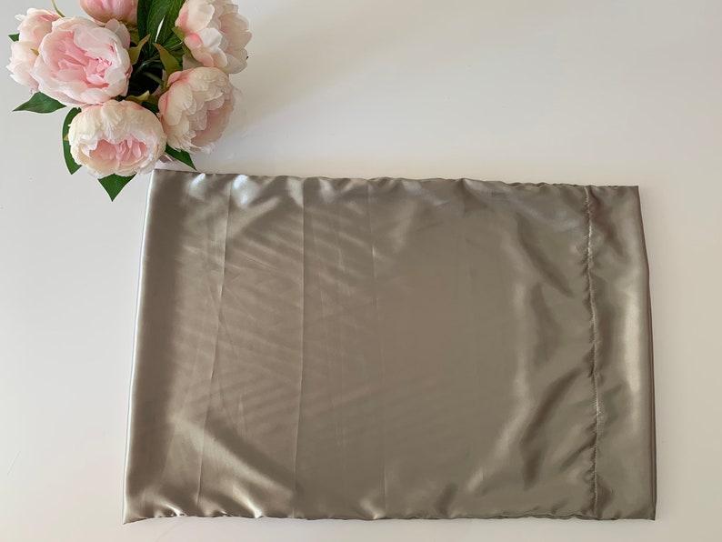 Silky Pillowcase Silver Green Charmeuse Satin