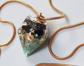 Orgonite Pendant for Wealth, Luck and Strength Small