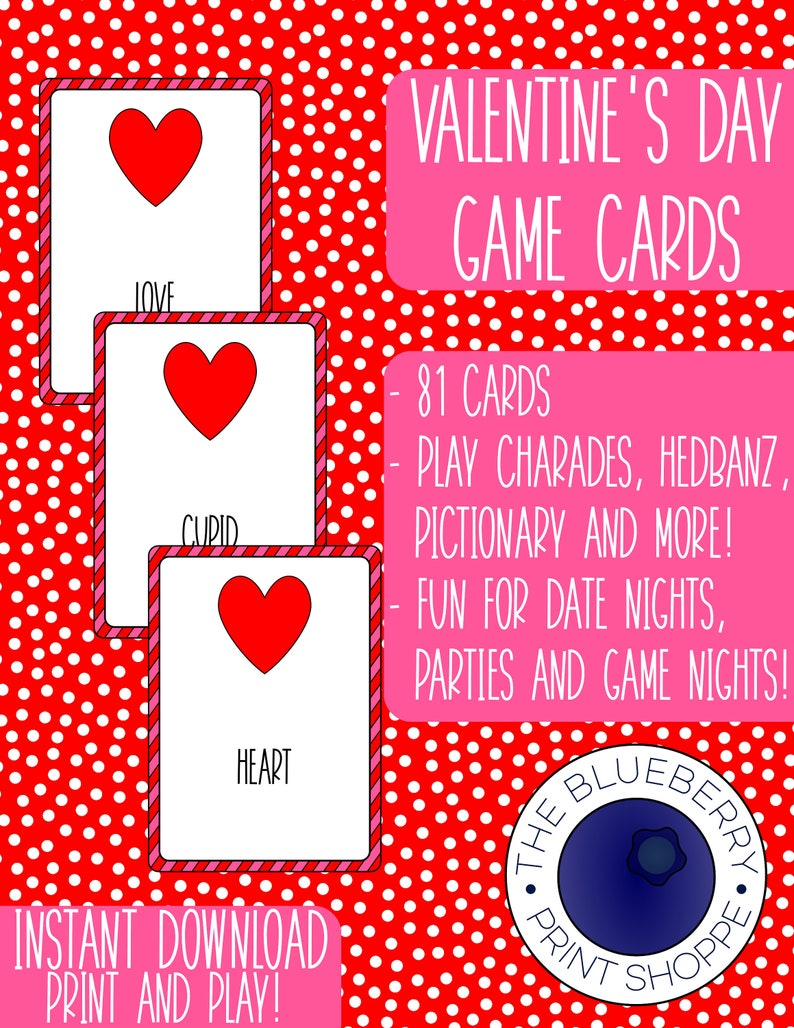 photograph regarding Hedbanz Cards Printable identified as Valentines Working day Printable Video game - Charades - Pictionary - Hedbanz