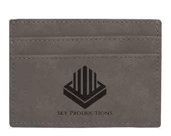 Personalized Wallet Clip or Your Choice or Words, Gray, Custom Wallet, Laser Engraved Wallet, Son Gifts, Corporate Gift, Groomsmen Gift
