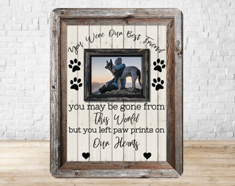 Personalized Dog Memorial Photo Frame, Dog Loss, Pet Loss Gift, Pet Memorial Frame, Pet Sympathy Gift, Cat Loss, Cat Memorial Frame