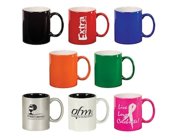 Personalized Mug, Your Choice of Image/Words, 11 oz. Ceramic, Custom Coffee Cups, Personalized Coffee Cups, Tea Gifts, Laser Engraved Cup