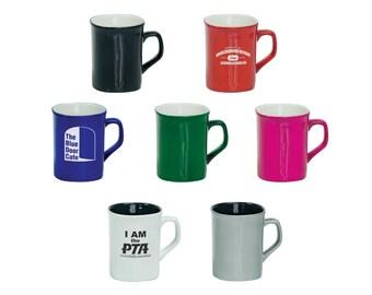 Custom Ceramic Rounded Corner Mugs, Personalized, Your Choice of Image/Words,11 oz., Custom Coffee Cups, Engraved Coffee Mugs, Custom Mugs