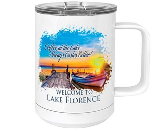 Custom Photo Mug, Full Color, Your Choice of Photo/Image/Words, 15 oz. Polar Camel Insulated Stainless Steel, Personalized Mug, Custom Cup