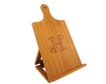Personalized Standing Chef's Easel,Your Choice of Image/Words, Bamboo Wood, Housewarming Gifts, Wedding Gifts, Custom Gifts, Corporate Gifts