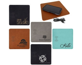 Personalized Phone Charging Mat, Your Choice of Image/Words, Laser Engraved, Custom Phone Charging Mat, Corporate Gifts, Engraved Mens Gifts
