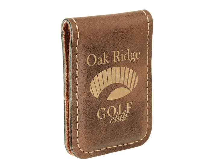 Personalized Leatherette Money Clip, Rustic Laser Engraved with Black, Personalized Gifts, Corporate Gifts, Groomsmens Gifts, Custom Gifts